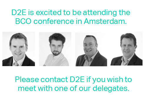 We will be attending the BCO Conference, Amsterdam